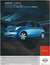 ▬► PUBLICITE ADVERTISING AD Voiture car Nissan Micra