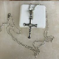 925 Sterling Silver Cross 20;Necklace Pendant Men Women