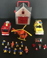 HUGE COLLECTION OF FIREMAN SAM VEHICLES AND FIGURES TOY PLAYSET