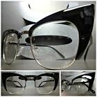 CLASSIC VINTAGE RETRO CAT EYE Style Clear Lens EYE GLASSES Black & Silver Frame