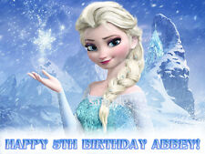 ELSA Personalized Edible Photo CAKE Image Icing Topper FREE SHIPPING