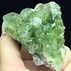 85g+Transparent+Bright+Green+Cubic+Fluorite+Crystal+Cluster+Mineral+Specimen