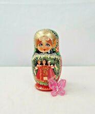Matryoshka Vintage Russian Nesting Dolls Hand Painted 5 Piece Storyteller A137Cm