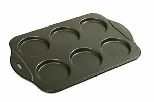 """Norpro Puffy Muffin Top Pan Makes 6 Non Stick High Rise Crown 4"""" Wide .5"""" Deep"""