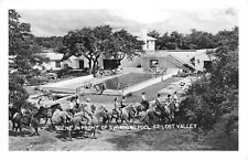 Bandera Texas 1940s RPPC Real Photo Postcard Scene In Front of Swimming Pool
