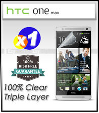 Top Grade Ultra CLEAR Screen Protector Guard Film For HTC One Max