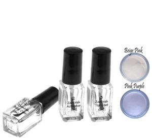 Zamirah Dipping Powder Nail Acrylic 5pcs 5ml Top Coat Base Activator Starter Kit