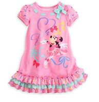 Disney Store Minnie Mouse Clubhouse NightGown PJ's Girls Size 2 3 4 5/6 7/8 9/10