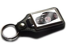 PORSCHE 911 CARRERA S Sports Car Koolart Leather and Chrome Keyring