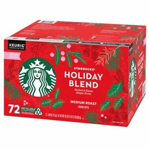 Starbucks Coffee Holiday Blend K-Cup Pods 72 K-Cup EXP 07/2021