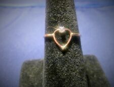 12 Karat Gold Filled Open Heart With Cz Wire Ring Size 9 In A Gift Ring Box