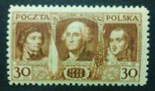 POLAND STAMPS MNH 1Fi250 Sc267 Mi271 - George Washington,Kosciuszko, 1932, **