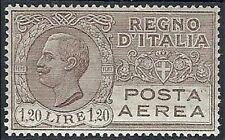 1926-28  REGNO POSTA AEREA 1,20 LIRE LUSSO MH * - RR10168