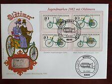 Numisbrief Oldtimer - Daimler Motorkutsche 1886 Münze 999. Silberbaren RAR
