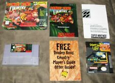 Donkey Kong Country (Super Nintendo) Box, cartridge, Manual & Two-Sided Poster