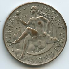 GX353 - Kalendermedaille 1950 Jahresregent Mond - Münze Wien Österreich Bronze
