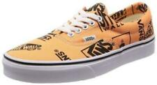 Vans Off the Wall Era Logo Mix Tangerine Black Shoes Mens 6.0  Sneakers