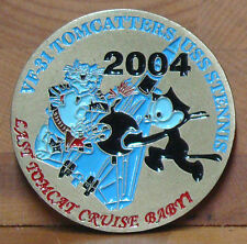 Vf-31 Tomcatters Challenge Coin Uss Stennis Last Tomcat Cruise Baby! 2004
