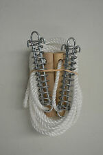 '8 PACK' DOUBLE TENT GUY ROPES WITH SPRING + WOODEN ROPE RUNNER - AUSSIE MADE