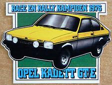 1976 Opel Kadette GT/E Race & Rally Champion Motorsport Sticker Decal