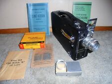 1930s Kodak Cine Model K 16mm Movie Camera with Papers Film Vintage Home Movies