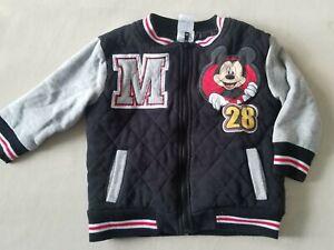 Disney Mickey Mouse 4T Coat Jacket Disney Bomber Jacket GUC