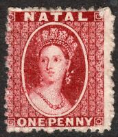 South Africa Natal 1863 lake red 1d perf13 no watermark thick paper mint SG18