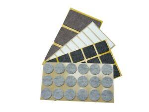 Filzgleiter selbstklebend eckig rund Klebefilz Stuhlgleiter grau braun schwarz