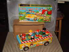 VINTAGE, MASUDAYA BATTERY OPERATED, TIN FAIRY LAND BUS. PERFECTLY WORKING W/BOX!