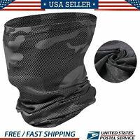 Neck Gaiter Face Mask  Balaclava Bandana Scarf Fishing Tube Headwear Shield US