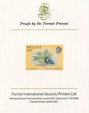 Belize 5110 - 1984 Vita Marina 15 quater Imperf in formato internazionale prova CARD