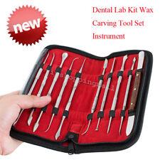 FDA New Dental Lab Stainless Steel Kit Wax Carving Tool Set Instrument Dentist