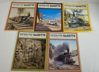 Narrow Gauge And Short Line Gazzette Lot Of 5 1984 1985 1986