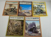 Narrow Gauge And Short Line Gazzette Lot Of 5 1984 1985 1986