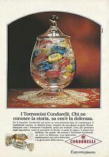 X2537 Torroncini CONDORELLI - Pubblicità 1991 - Advertising