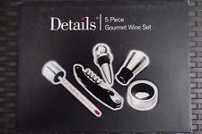 5 pezzi Set vino Gourmet in una confezione di presentazione in legno