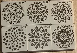 Mandala Stencils - Reusable Templates for Art Painting Drawing Scrapbook Floral