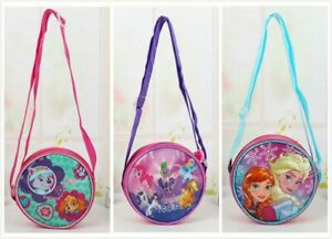 Kids Girls Circle Round Cross body Shoulder bag Purse Wallet Handbag Messenger