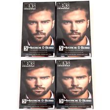 4X Men's Select Mustache & Beard Hair Dark Brown Brush-In Color Dye Gel In 5 Min