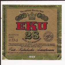 1992 EKU 28 Beer Bottle Label