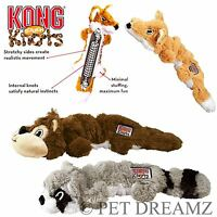 KONG SCRUNCH KNOTS – STRETCHY SQUEAKY DOG PUPPY TOY - KNOTTED ROPE FOR STRENGTH