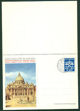 Vatican City 1958 set of 2 Rapid Reply Postcards, First Day Cancelled