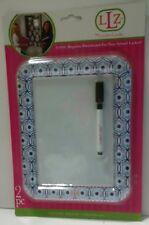 Darice Locker Lookz Blue and White Print White Board New