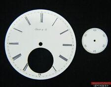 Perret & Co. Pocket Watch Dial 45.16mm Porcelain Single Sunk Roman Numerals