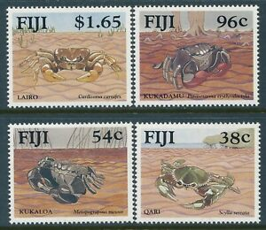 1991 FIJI MANGROVE CRABS SET OF 4 FINE MINT MNH
