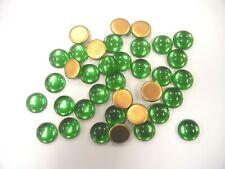 36 preciosa round cabascons,18mm light emerald/goldfoiled
