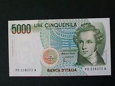 BANCONOTA  LIRE 5000 BELLINI  FDS