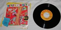 Vintage Peter and the Wolf 45 RPM Vinyl Record Cricket