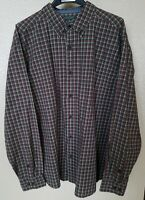 Woolrich Plaid Casual Button Down Shirt Long Sleeve Cotton Mens Size XL NICE!