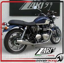 Zard chrom racing slip on exhaust system Triumph Bonneville SE 2009 Inj mod.